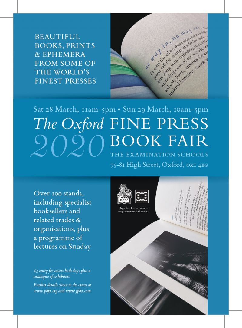 Oxford Fine Press Book Fair 2020